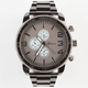 GENEVA Oversized Gunmetal Watch