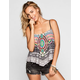 FULL TILT Medallion Print Womens Hanky Swing Top