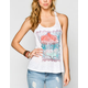 FULL TILT Medallion Womens T Strap Tank