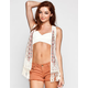 FULL TILT Embroidered Womens Crochet Vest