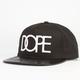 DOPE Pleather Brim Mens Snapback Hat