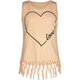 FULL TILT Heart Fringe Girls Muscle Tank