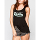 YOUNG & RECKLESS Big R Script Womens Tank