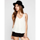 EYESHADOW Crochet Back Womens Tank
