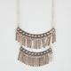 FULL TILT 2 Tier Chain Fringe Necklace