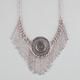 FULL TILT Medallion Chain Fringe Statement Necklace