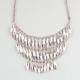 FULL TILT 3 Row Metal Bead Statement Necklace