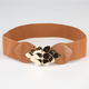 Gold Leaf Womens Stretch Belt