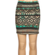 FULL TILT Ombre Ethnic Print Girls Bodycon Skirt