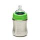 KLEAN KANTEEN 9oz Medium Flow Stainless Steel Baby Bottle