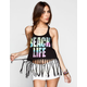 FULL TILT Beach Life Womens Twist Back Tank