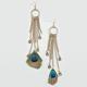 FULL TILT Peacock Dangle Chain Earrings