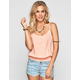 SOCIALITE Womens Smocked Trim Tank