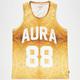 AURA GOLD Gold Sub Mens Mesh Tank