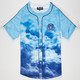 AURA GOLD Digital Cloud Mens Baseball Jersey