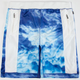 AURA GOLD Digital Cloud Mens Mesh Shorts