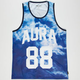 AURA GOLD Digital Cloud Mens Mesh Tank