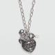 FULL TILT Filigree Puff Heart Necklace