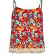 FULL TILT Floral Print Girls Lace Trim Swing Tank