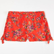 MIA CHICA Floral Print Girls Tie Side Challie Shorts