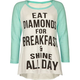 FULL TILT Diamonds For Breakfast Girls Raglan Tee
