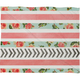 DENY DESIGNS Floral Stripes And Arrows Throw Blanket
