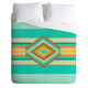 DENY DESIGNS Fiesta Teal Luxe Duvet Cover