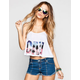 FULL TILT Cali Palm Womens Swing Tank