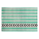 DENY DESIGNS Mint Stripes And Arrows Woven Rug