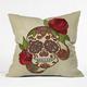 DENY DESIGNS Sugar Skull Throw Pillow