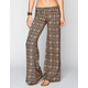 FULL TILT Ethnic Batik Print Womens Wide Leg Pants