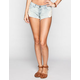 ALMOST FAMOUS Side Crochet Womens Denim Shorts