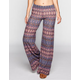 FULL TILT Linear Ethnic Print Womens Wide Leg Pants