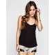 CHLOE K Embroidered Strap Womens T-Back Swing Tank