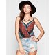 FULL TILT Boho Print Womens Surplus Tank