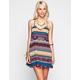 FULL TILT Boho Print T-Back Slip Dress