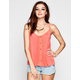 EYESHADOW Embroidered Back Womens Tank