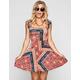 SOCIALITE Boho Print Cross Back Dress