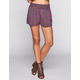 FULL TILT Ethnic Print Womens Smock Waist Shorts