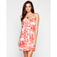 SOCIALITE Tie Dye Lattice Back Dress