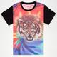 BLUE CROWN Tie Dye Tiger Boys T-Shirt