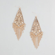 FULL TILT Filigree Diamond Fringe Earrings
