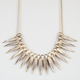 FULL TILT Leaf Sticks Statement Bib Necklace