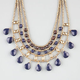 FULL TILT 4 Tier Stone Statement Necklace
