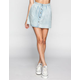 FULL TILT Button Front Chambray Skater Skirt