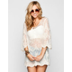 BLU PEPPER Womens Lace Tunic
