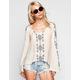 BLU PEPPER Embroidered Womens Top