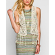 BLU PEPPER Womens Crochet Vest