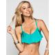 VITAMIN A Clover Flounce Bikini Top