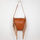 DEB & DAVE Faux Leather Fringe Handbag